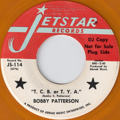 Bobby Patterson - T.C.B. or T.Y.A. (Jetstar)