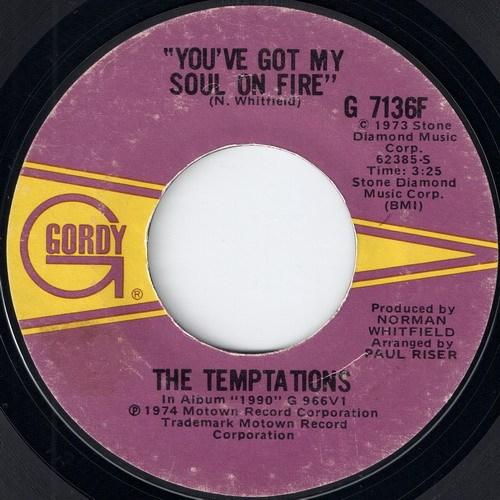 The Temptations - You've Got My Soul On Fire (Gordy)