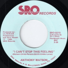 Anthony Watson - I Can\'t Stop This Feeling (SRO)