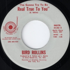 Bird Rollins - I\'m Gonna Try To Be Real True To You Instrumental (Disco)