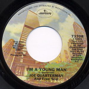 Sir Joe Quarterman & Free Soul - Im A Young Man 1975 Side A Cover