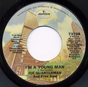 Sir Joe Quarterman & Free Soul - Im A Young Man 1975 Side B Cover
