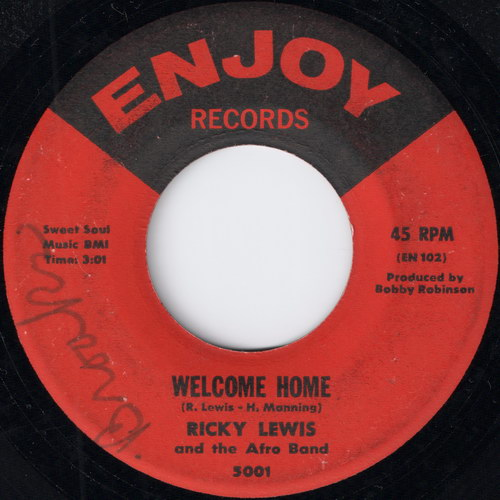 "Ricky Lewis And The Afro Band – Welcome Home / Somebody's Gonna Want Me [7""] (Enjoy)"