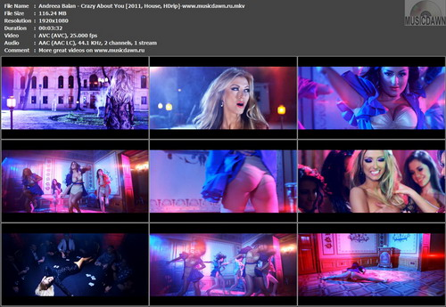 Andreea Balan – Crazy About You [2011, HDrip] Music Video