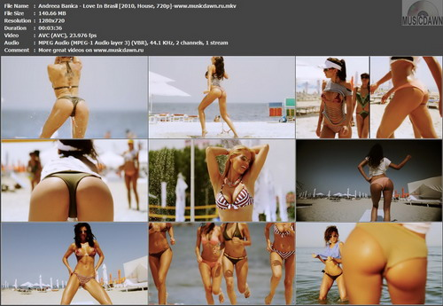 Andreea Banica – Love In Brasil [2010, HDrip 720p] Music Video (Re:Up)