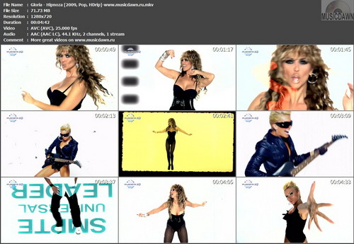 Gloria – Hipnoza | Hypnosis [2009, HD 720p] Music Video (Re:Up)