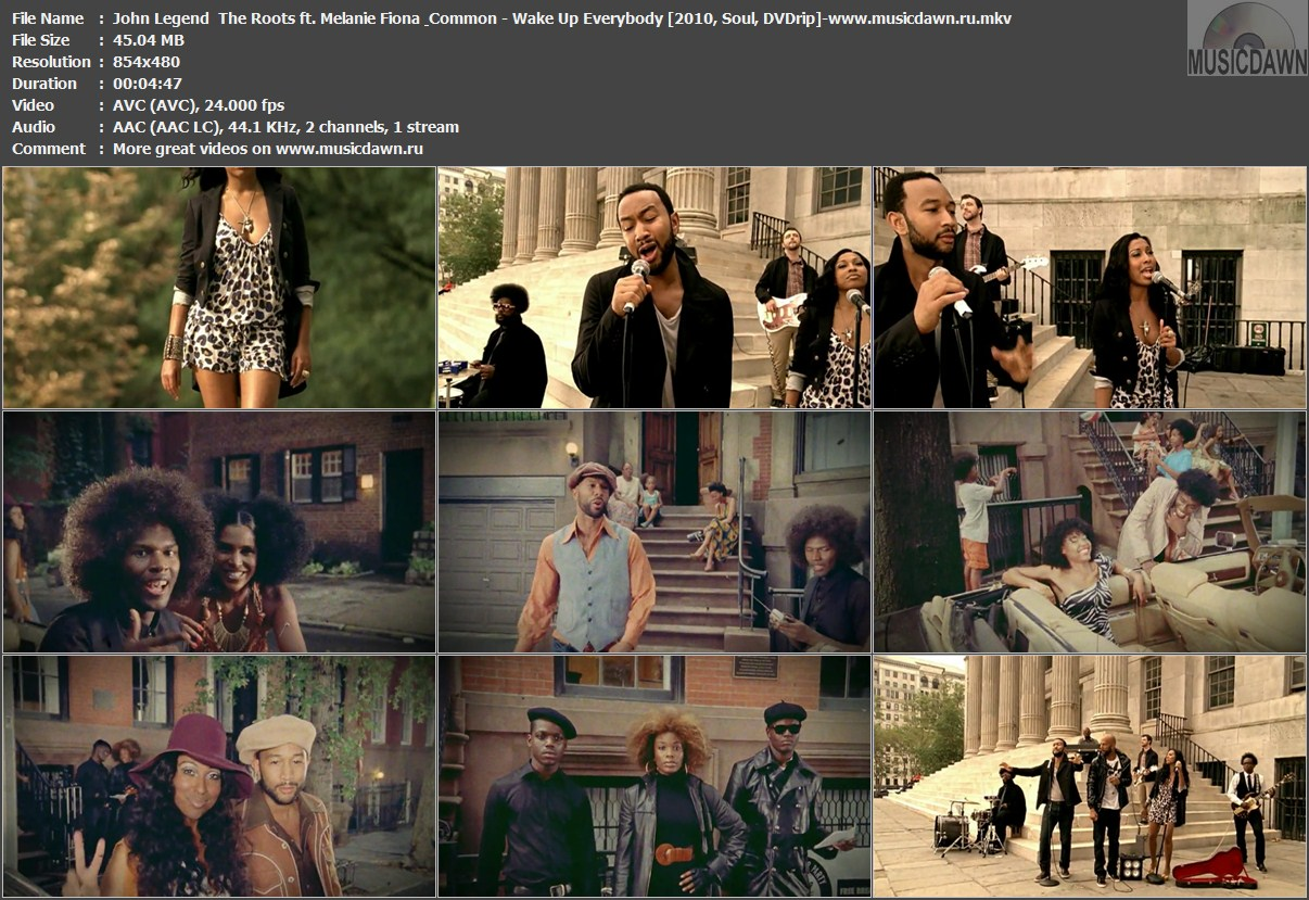 Musicdawn Videos Collection John Legend Amp The Roots Ft