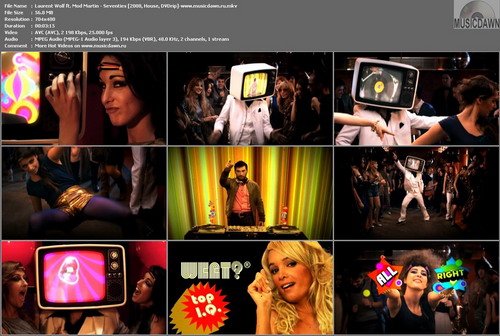 Laurent Wolf ft. Mod Martin – Seventies [2008, DVDrip] Music Video (Re:Up)