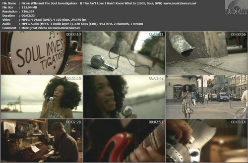 Nicole Willis and The Soul Investigators - If This Ain't Love I Don't Know What Is (2005, Soul, DVDrip)