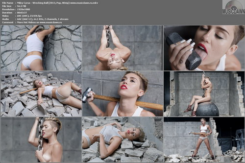 Miley Cyrus – Wrecking Ball [2013, HD 1080p] Music Video