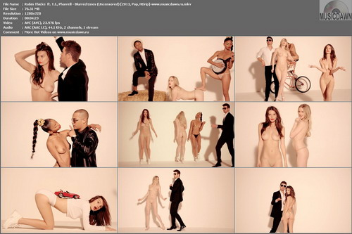 Robin Thicke  ft. T.I., Pharrell - Blurred Lines (Uncensored) [2013, Pop, HDrip]