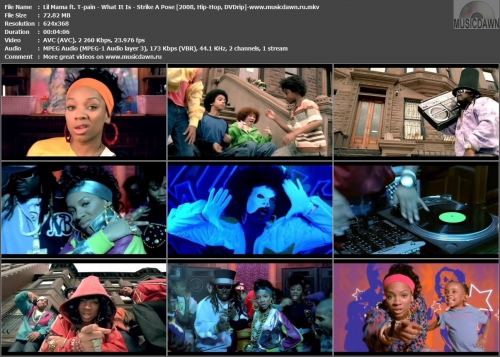 Lil Mama ft. T-pain - What It Is (Strike A Pose) {2008, DVDrip}