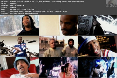 Warren G Feat. KRS-One & Lil' Ai - Let's Go (It's A Movement) {2003, DVDrip}