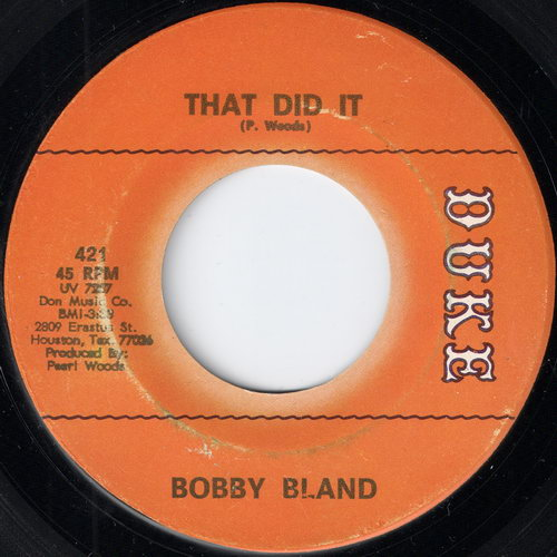 Bobby Bland - That Did It
