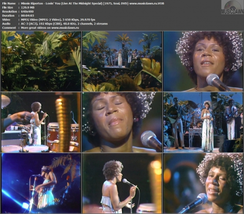 Minnie Riperton - Lovin' You (Live At The Midnight Special) {1975, DVD-VOB}