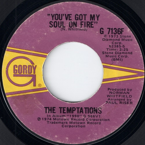 The Temptations - You've Got My Soul On Fire (Gordy)