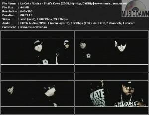 La Coka Nostra – That's Coke [2009, DVDRip] Music Video