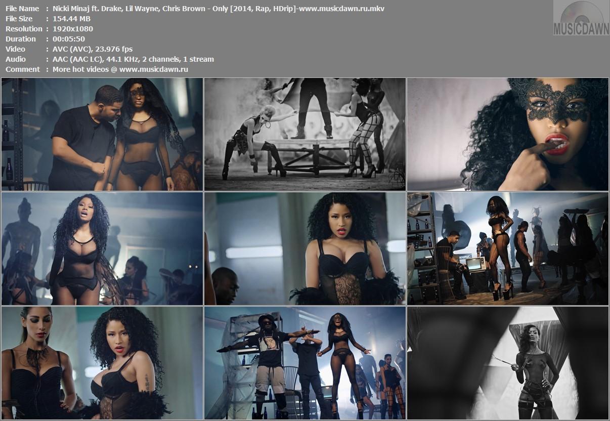 Клип Nicki Minaj ft. Drake, Lil Wayne, Chris Brown - Only [2014, HD 1080p]