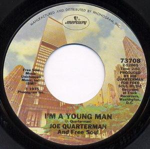 Sir Joe Quarterman & Free Soul - Im A Young Man 1975 Side A Cover