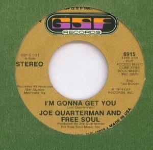 Sir Joe Quarterman & Free Soul - Im Gonna Get You 1974 Cover
